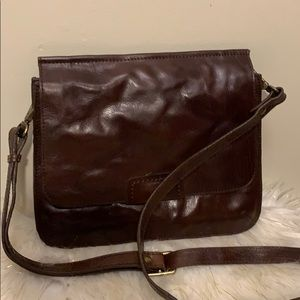 Nino Bossi brown leather bag